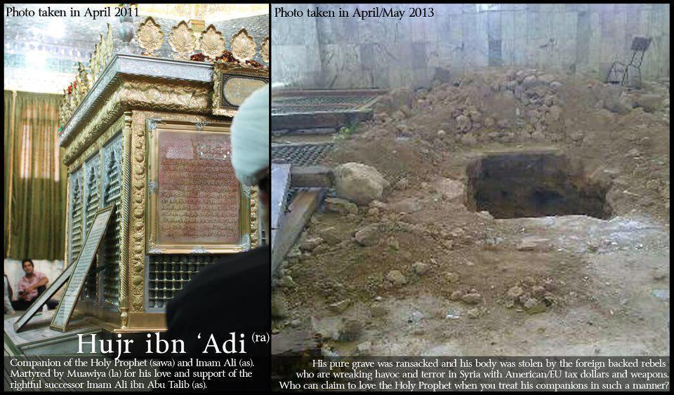 Martyrdom of Hujr ibn Adi (ra) from Sunni sources